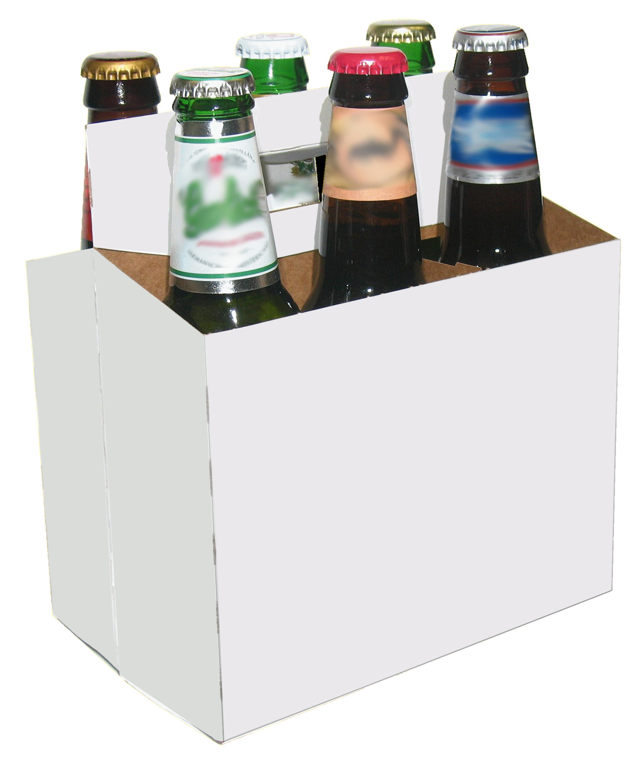 six pack holder template - 6 bottle beer carriers 12 oz generic white 6 pack