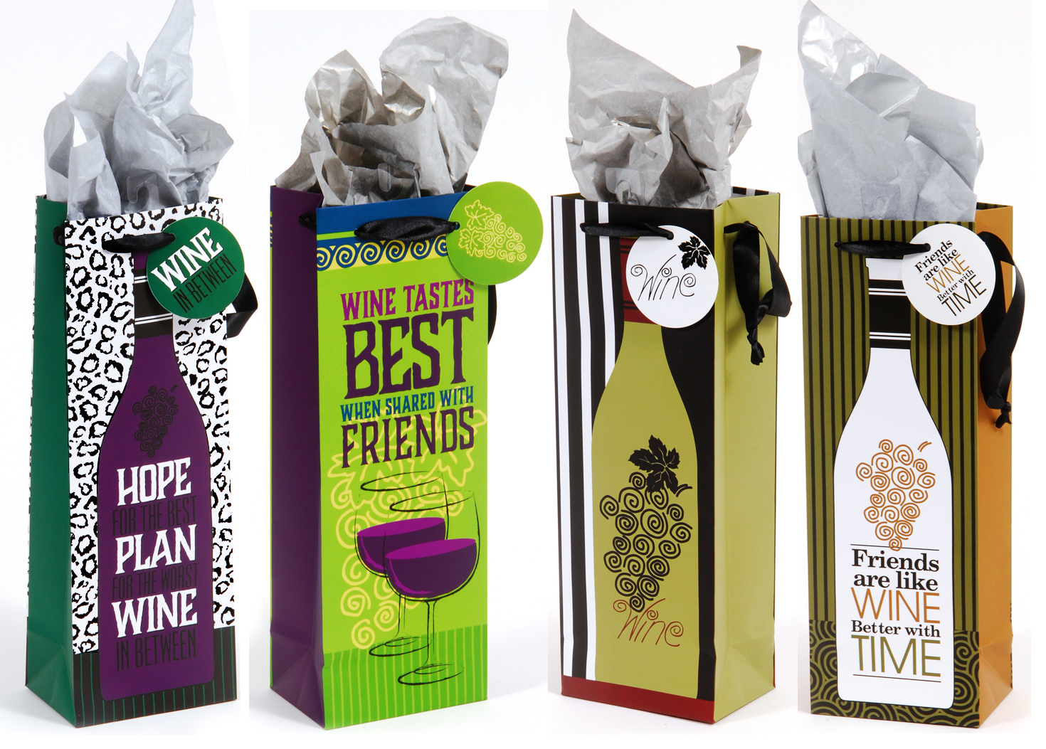 & Friends Are Like Wine Gift Bag Assortment