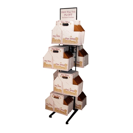 6 Bottle Wine Carrier Display Display Rack For Fine Wine