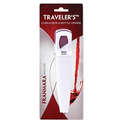 Traveler's Corkscrew & Bottle Opener (Carded)