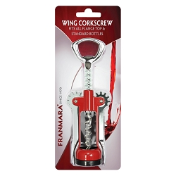 Classic Italian Made Wing Corkscrew (Carded)