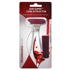 Ahh Super! Two-Prong Cork Extractor, Chrome Plated (Carded)