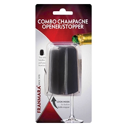 Combo Champagne Opener/Stopper (Carded)