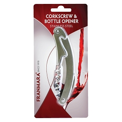 Stainless Steel Waiter's Corkscrew (Carded)