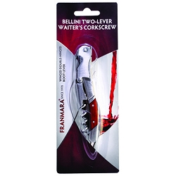 Bellini Waiter's Corkscrew with Rosewood Handle (Carded)