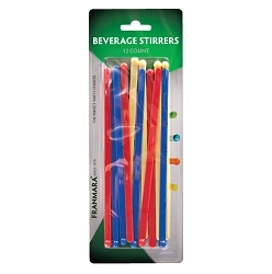Beverage Stirrers, Solid Colors (12 Count)