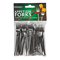 Appetizer Forks, Metalized Finish, 50 Count (Carded)