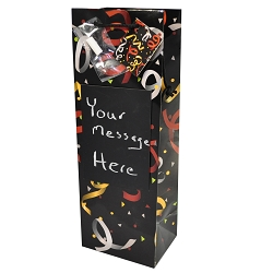 Party Time Chalk Board Wine Gift Bag
