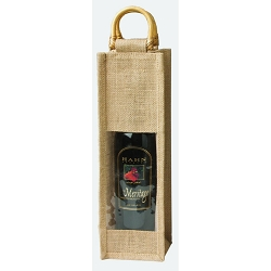 Jute Vino Sack, Clear window formerly 10-6261