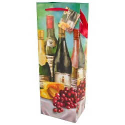 Festive Bottles Wine Bottle Gift Bags, 12 in a pack