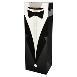 Tuxedo Wine Bottle Bag, set of 10