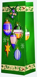 Holiday Ornaments 3D Wine Gift Bag