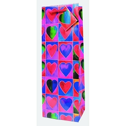Hearts Wine Gift Bag