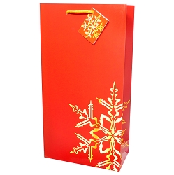 Red Snowflake, 2 Bottle Holiday Wine Gift Bag