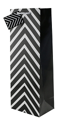 Black Chevron Wine Gift Bags