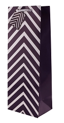 Purple Chevron Wine Gift Bag
