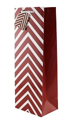 Burgundy Chevron Wine Gift Bags