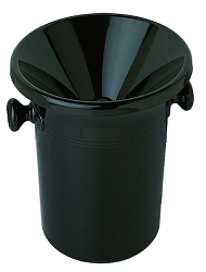 Wine Tasting Receptacle (Spittoon), 2pc., Black Acrylic
