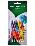 Party Parasols-10 Count (Carded)
