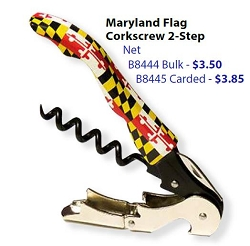 Maryland Flag Corkscrew 2 Step (Bulk)