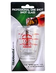 Franmara 2 oz. Professional Grade Shot Glass with lines (Carded)