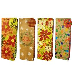 Yuletide Flowers Wine Gift Bags