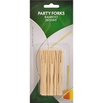 Franmara Bamboo Party Forks- 30 (Carded)