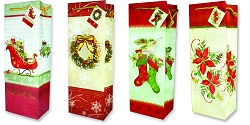Warm Tidings Wine Gift Bag Assortment with Appliques