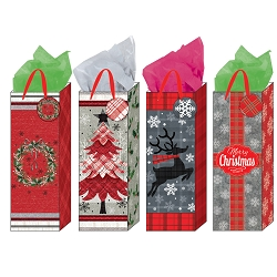 Plaid Christmas Gift Bag Assortment