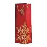 Golden Snowflake Red Wine Gift Bags