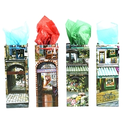 Paris Street Scene Wine Gift Bags formerly P5805-01