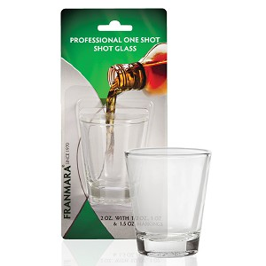 Professional Shot Glass Plain, 2 oz.  Carded