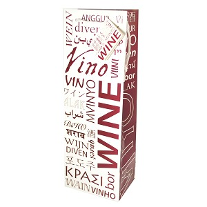 Wine in Many Languages Bottle Gift Bag, pack of 12