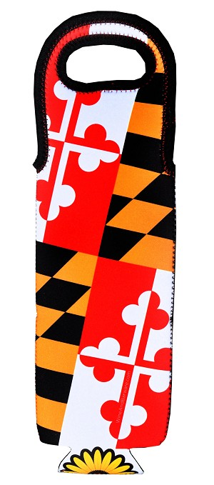 Maryland Flag Single Bottle Wine Tote