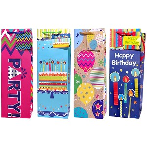 Birthday Tempo Wine Gift Bags