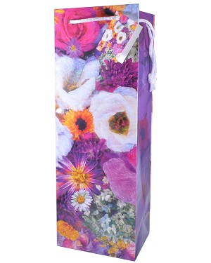 misty flowers wine gift bags sturdy wholesale wine gift bags