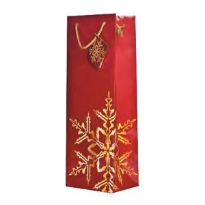 Christmas Gift Bags Bulk.Golden Snowflake Red Wine Gift Bags